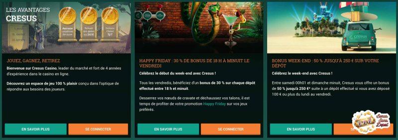 cresus casino promotions bonus