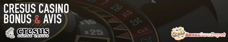 cresus casino banniere