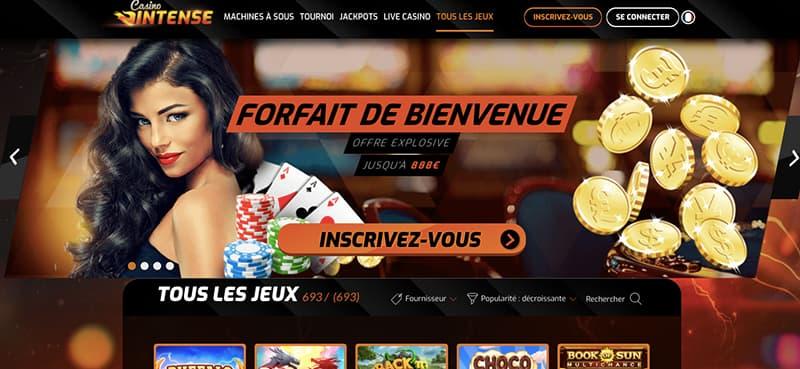 casino intense interface