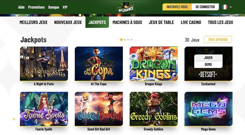 ma chance casino jeux capture d'ecran